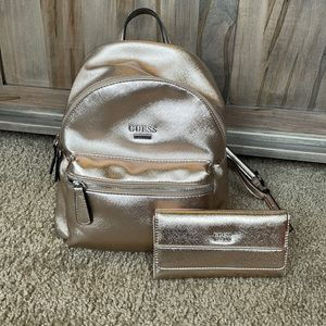 Guess backpack and matching wallet Set
